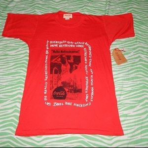 Coca-Cola Vintage 80s T-shirt unisex Medium NWT